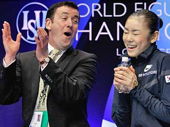 Brian Orser and Yu Na Kim